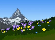 Ілюстрація — гора Маттахорн