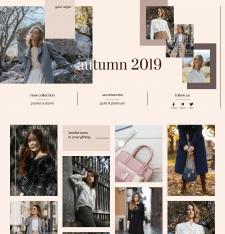 Лендинг-визитка для  дизайнера бренда одежды