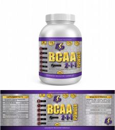 Дизайн этикетки спортивного питания BCAA 2-1-1 для