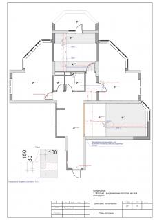 План потолков квартира 100м2