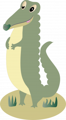 Ілюстрація векторна Крокодил