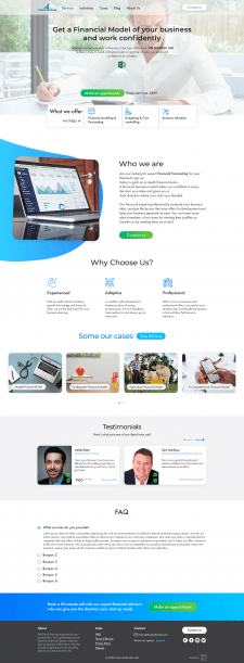 Дизайн сайта для финансового эксперта