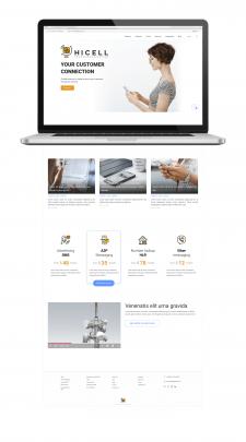Дизайн главной страницы сайта провайдера