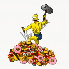 Гомер из еды