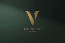 """Логотип для отеля """"Voronino"""""""