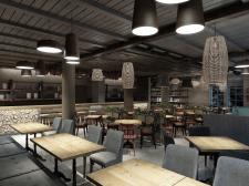 3D Визуализация кафе