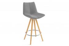 Chaise de bar mi hauteur grey
