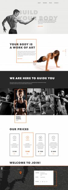 Лендинг пейдж / индивидуальный тренировки / спорт