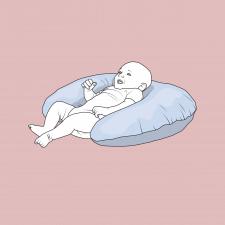 Иллюстрация подушки для кормления