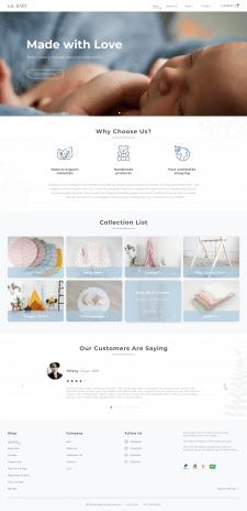 Дизайн сайта для онлаин магазина детских товаров