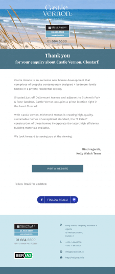 e-mail template