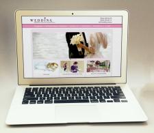 Макет сайта для свадебного агенства visual