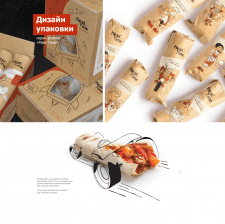 Дизайн упаковки ролов