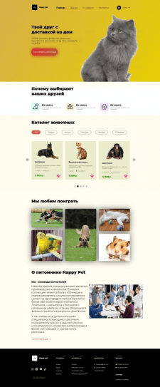 Дизайн яркого сайта-магазина