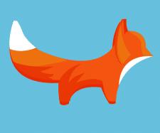 векторная лисичка