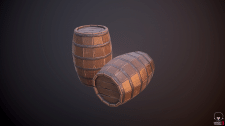 Barrel Lowpoly (props) game model
