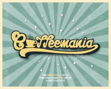 «Coffeemania» логотип в ретро стиле