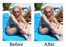 Улучшение фигуры, Цветокоррекция фото