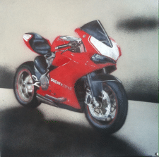 Красный мотоцикл Дукатти