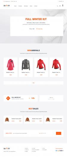 Верстка на Bootstrap3 (e-commerce)