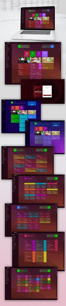CRM Design Interface for massage salon