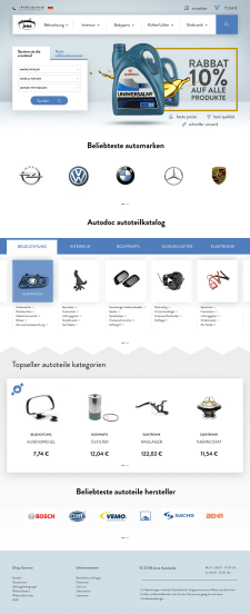 Landing page for Autoteil in Jena