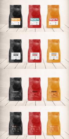 Варианты дизайна этикеток для кофе