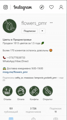 Продвижение профиля цветочного магазина
