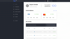 Finance Admin Panel  — Home page