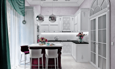 Кухня в стиле нео-классика 12 м.кв.