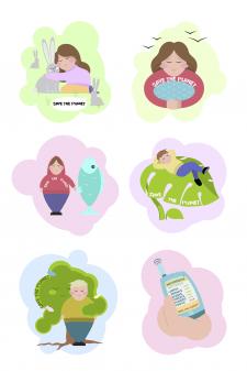 Иллюстрации SAVE THE PLANET