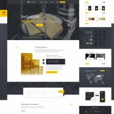 Редизайн сайта по продаже золотых слитков SwissGol