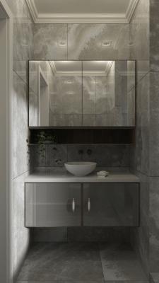 Визуализация интерьера ванной комнаты