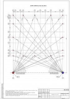 Геодезическая подоснова угловая разбивочная схема