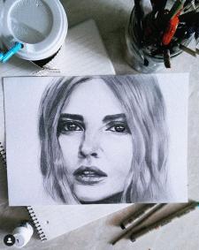 Алина Солопова портрет карандашом
