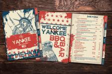 Разработка меню для кафе в американском стиле