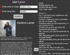 Приложение для поиск текста песни и исполнителя.
