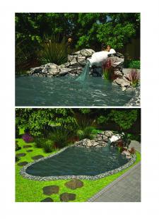 оформления водоема в саду