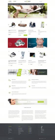 LuxMed | Верстка и натяжка на OpenCart