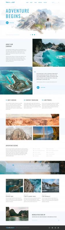 Многостраничный сайт туристического агентства