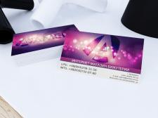 Дизайн визитки для интернет-магазина Amelie