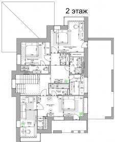 2 этаж Дом 300м2