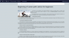 Beginning of career path: advice for beginners