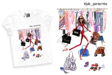Иллюстрация для футболки и Instagram