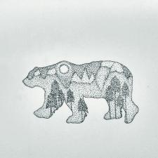 Эскиз татуировки Медведь