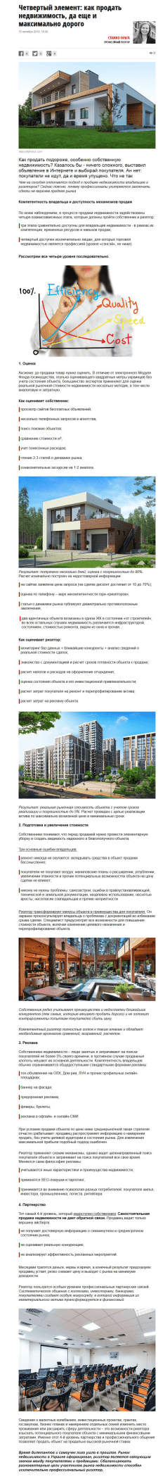Четвертый элемент: как продать свою недвижимость