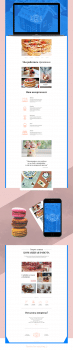 "Landing page ""Sweets for you"""