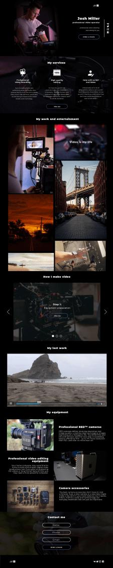 Сайт-визитка для видеографа