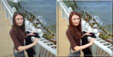 Катерина у моря. Ретушь фото