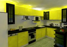 Кухня 3d model.